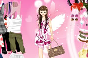 Play Pink Feather Dress Up