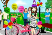 Play Happy Birthday Bicycle