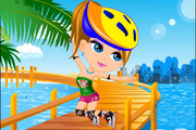 Play Cute Roller Girl