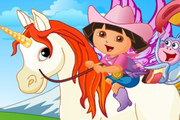 Play Baby Dora On The Unicorn King