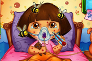 Play Dora Bee Sting Doctor