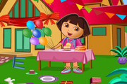 Play Dora birthday bash cleaning