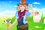 Play Barbie Farmer Princess Dressup