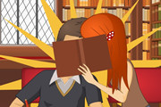 Play Kissing in the Library
